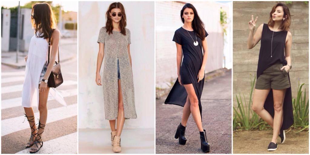 tendência-maxi-camiseta-com-shorts-carol-doria-2015